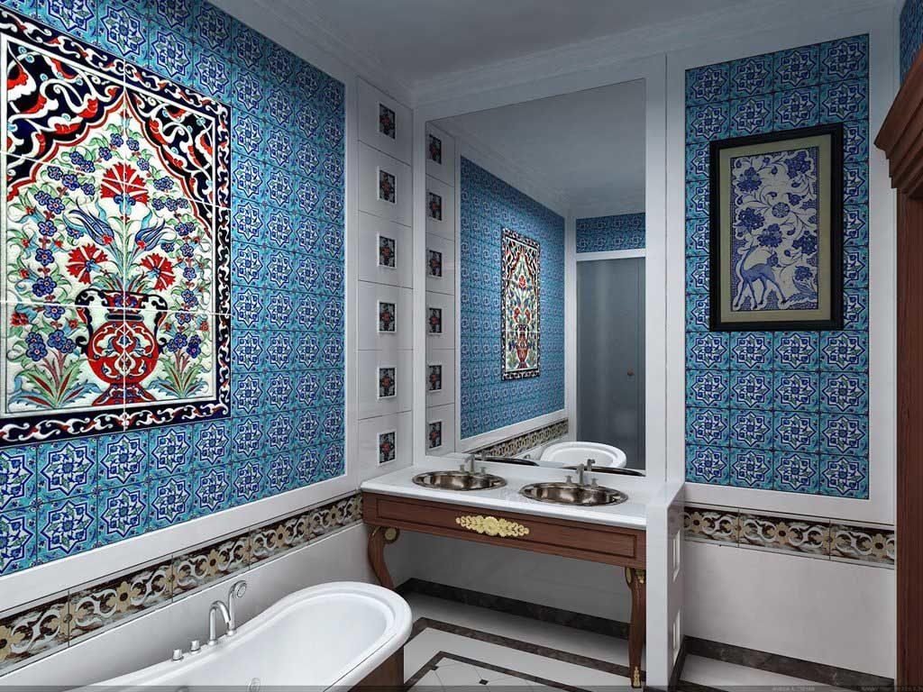 Марокканский интерьер ванной
