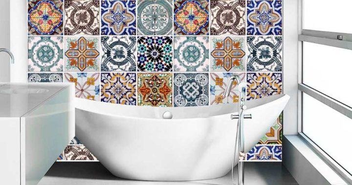 Дизайн ванной комнаты — эксклюзивные панно, 50 вариантов.