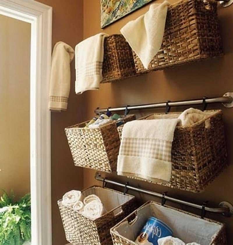 навесные корзины для ванной