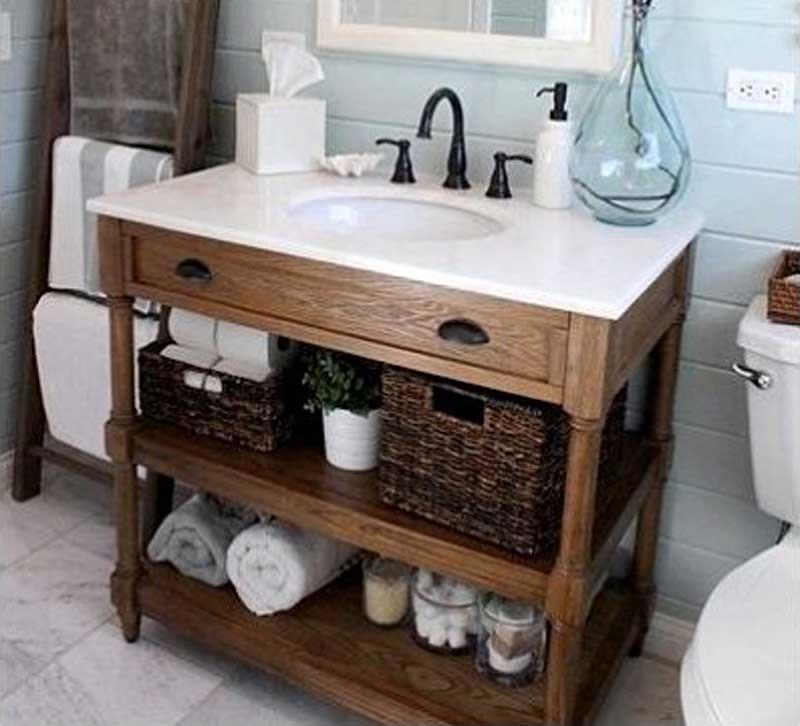 корзина в ванной комнате