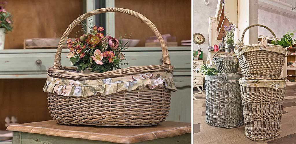 Плетеные корзины в стильных интерьерах