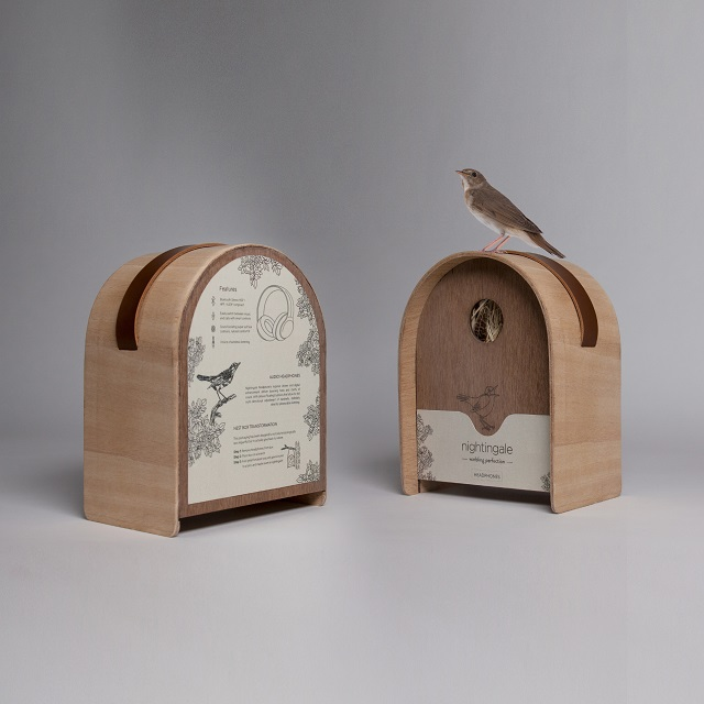 Nightingale Headphone Packaging by Merlin Didier