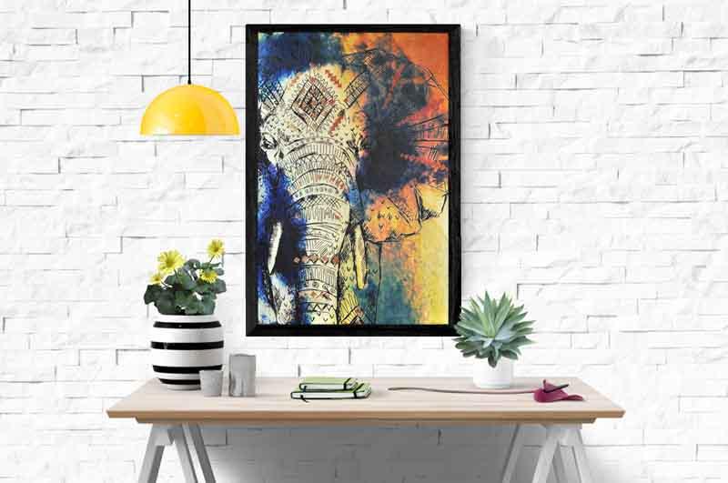 "Картина в африканском стиле ""Слон"""