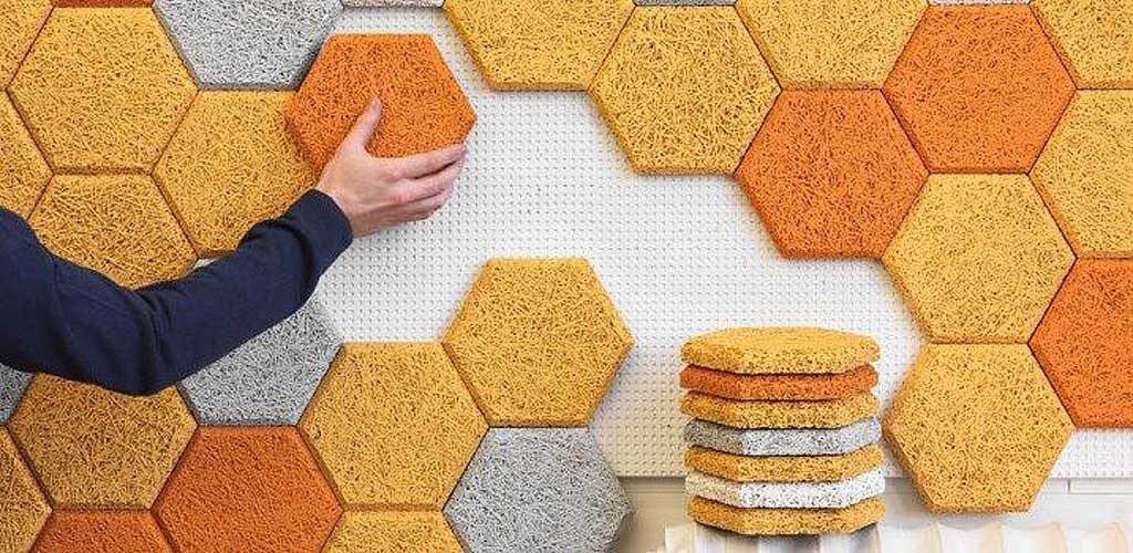 Панели и мозаика из  древесного волокна и цемента BAUX
