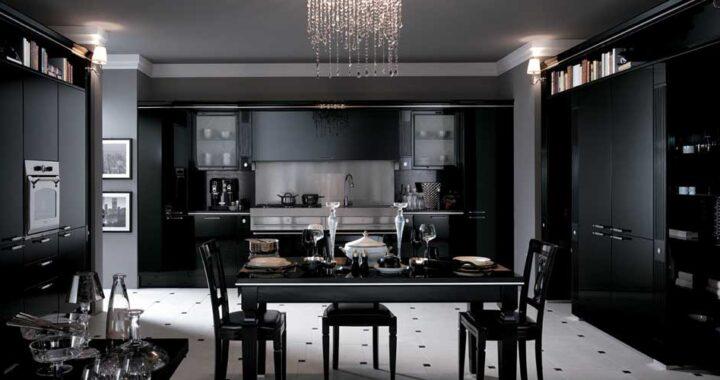 Черный цвет в интерьере как элегантность