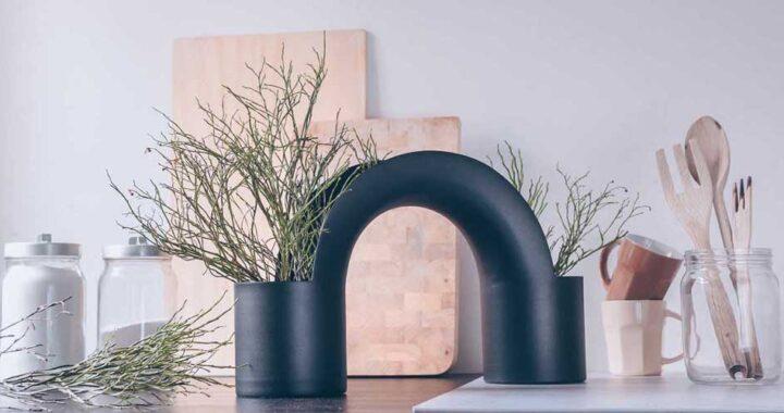 Металлические вазы в форме моста, Bridge Vase