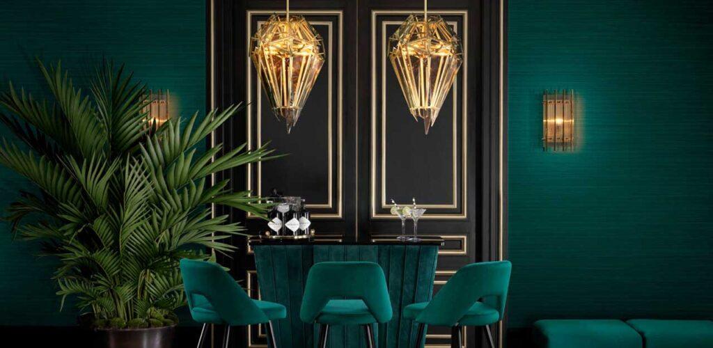 Интерьер в стиле Ар-деко: планировка, освещение, декор